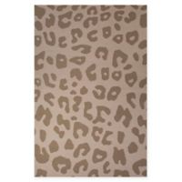 Jaipur National Geographic Home Flat Weave Jaguar 8-Foot x 10-Foot Area Rug in Light Brown