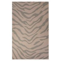 Jaipur National Geographic Home Flat Weave Tiger 5-Foot x 8-Foot Area Rug in Brown/Grey