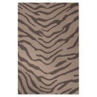 Jaipur National Geographic Home Flat Weave Tiger 8-Foot x 10-Foot Area Rug in Grey