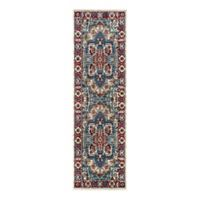 Couristan® Vintage Floral Sarouk 2-Foot 7-Inch x 7-Foot 10-Inch Runner in Putty/Claret