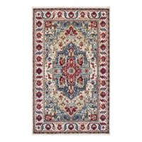 Couristan® Vintage Floral Sarouk 3-Foot 11-Inch x 5-Foot 3-Inch Area Rug in Putty/Claret
