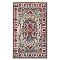Couristan® Vintage Floral Sarouk 5-Foot 3-Inch x 7-Foot 6-Inch Area Rug in Putty/Claret