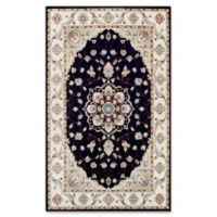 Couristan® Vintage Floral Malayer 5-Foot 3-Inch x 11-Foot 6-Inch Area Rug in Ebony/Sand