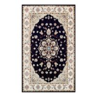 Couristan® Vintage Floral Malayer 9-Foot 2-Inch x 12-Foot 5-Inch Area Rug in Ebony/Sand