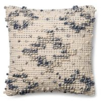 Magnolia Home Lexi 18-Inch x 18-Inch Accent Pillow in Blue/Ivory