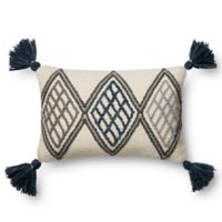 Magnolia Home Soren 13-Inch x 21-Inch Accent Pillow in Blue/Ivory