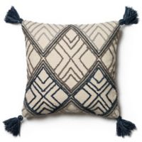 Magnolia Home Soren 22-Inch x 22-Inch Accent Pillow in Blue/Ivory