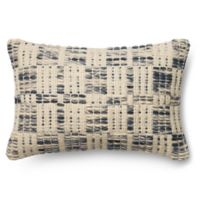Magnolia Home London 13-Inch x 21-Inch Accent Pillow in Blue/Ivory