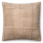 Magnolia Home Wilson 22-Inch Square Throw Pillow in Beige/White
