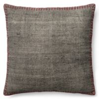 Magnolia Home Wilson 22-Inch x 22-Inch Accent Pillow in Grey/Red