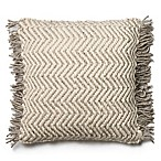 Magnolia Home Messenger 22-Inch  Square Throw Pillow in Grey/Ivory