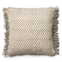 Magnolia Home Messenger 22-Inch x 22-Inch Accent Pillow in Grey/Ivory