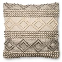 Magnolia Home Joslin 22-Inch x 22-Inch Accent Pillow in Grey/Ivory