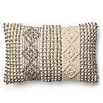 Magnolia Home Joslin 13-Inch x 21-Inch Oblong Throw  Pillow in Grey/Ivory