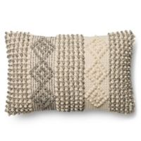 Magnolia Home Joslin 13-Inch x 21-Inch Accent Pillow in Grey/Ivory
