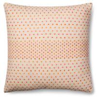 Magnolia Home Delaney 22-Inch x 22-Inch Accent Pillow in Coral Multi