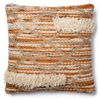 Magnolia Home Hazel 18-Inch x 18-Inch Accent Pillow in Orange/Ivory