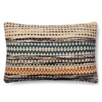 Magnolia Home Jordan 13-Inch x 21-Inch Accent Pillow in Orange/Blue