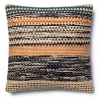 Magnolia Home Jordan 22-Inch x 22-Inch Accent Pillow in Orange/Blue