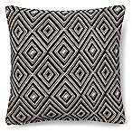 Magnolia Home Leigh 18-Inch Square Throw Pillow in Black/White