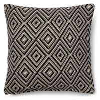 Magnolia Home Leigh 18-Inch x 18-Inch Accent Pillow in Black/White