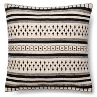 Magnolia Home Charis 18-Inch x 18-Inch Accent Pillow in Black/White
