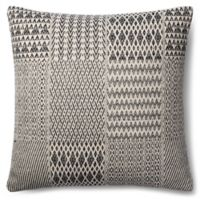 Magnolia Home Etta 22-Inch x 22-Inch Accent Pillow in Black/White