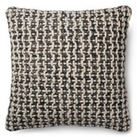 Magnolia Home Trellis 22-Inch x 22-Inch Accent Pillow in Black/White