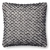 Magnolia Home Ruth 18-Inch x 18-Inch Accent Pillow in White/Black