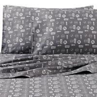 VCNY Lil Traveler Twin Sheet Set in Grey