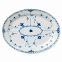 Royal Copenhagen Fluted Half Lace 14.25-Inch Oval Platter in Blue