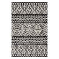 Magnolia Home by Joanna Gaines Lotus 7-Foot 9-Inch x 9-Foot 9-Inch Area Rug in Black/Silver