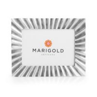 Marigold Artisans 5-Inch x 7-Inch Fluted Picture Frame in Silver