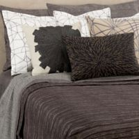 Kelly Wearstler Haze Full/Queen Coverlet in Charcoal