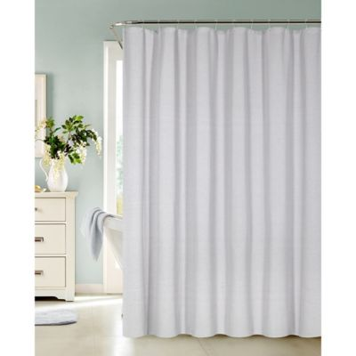 white and silver shower curtain. Ellen Tracy Fieldstone Shower Curtain in Silver Buy from Bed Bath  Beyond