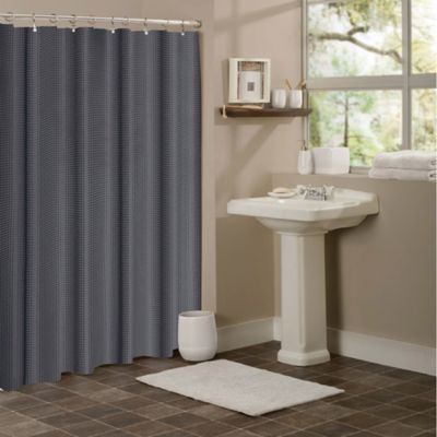 Buy Gray Textured Shower Curtain from Bed Bath & Beyond