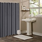 Hotel Collection Waffle Shower Curtain in Dark Grey