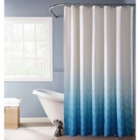 Lace Ombré Shower Curtain in Blue