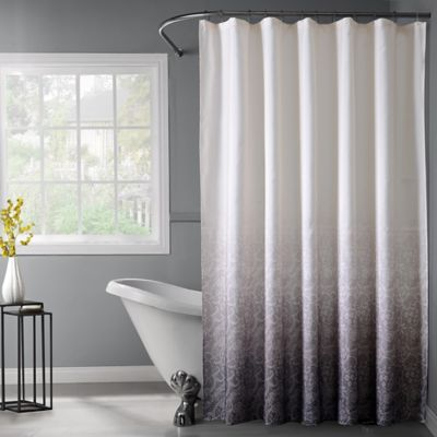 Lace Ombré Shower Curtain In Black