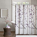 Madison Park Holly 72-Inch Shower Curtain in Purple