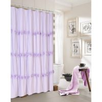 Dainty Home Rosette Shower Curtain in Purple
