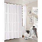 Dainty Home Rosette Shower Curtain in White
