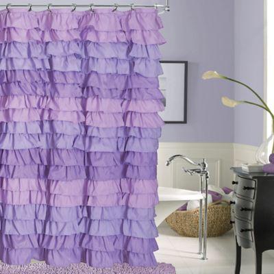 Dainty Home Venezia Shower Curtain In Purple