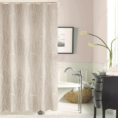 Dainty Home Woodbury Shower Curtain In Taupe