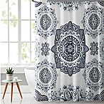 VCNY Kaya Shower Curtain in Grey/Mint