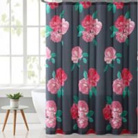 VCNY Home Rosemary Shower Curtain in Charcoal/Rose