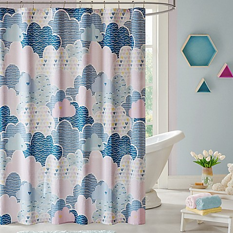 Urban Habitat Kids Cloud Shower Curtain in Blue - Bed Bath & Beyond
