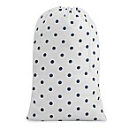 Dot Print Laundry Bag in Navy