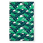 Palm Leaves Beach Towel in Green