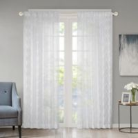Regency Heights Kendall 108-Inch Rod Pocket/Back Tab Sheer Window Curtain Panel in Ivory
